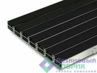 """Грязезащитные алюминиевые решетки с резиновым покрытием """"Рифлёнка"""""""