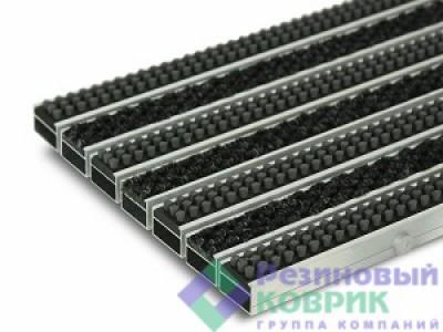"""Грязезащитные алюминиевые решетки с  ворсовым покрытием  и щеткой """"Щётка + Трафик"""""""
